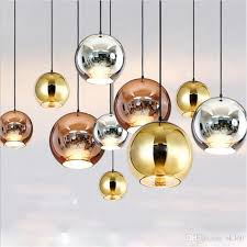 glass ball led pendant lamp copper sliver gold mirror chandelier light e27 bulb modern chandeliers glass ball droplight lighting ceiling hanging