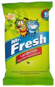 <b>Салфетки Mr</b>. <b>Fresh</b> влажные антибактериальные 15 шт ...
