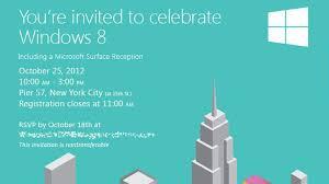 Microsoft Invitation Microsoft Sends Invitations To Windows 8 Launch Event