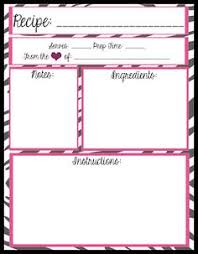 i been on a mission for quite some time to find full binder size recipe card templates it seems to me that a 3 ring binder recipe book i