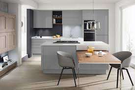 Second Nature Kitchen Doors A Contemporary Remo Kitchen With A Calming Silver Grey Finish