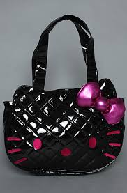 Loungefly The Hello Kitty Quilted Tote Bag in Black Patent ... & The Hello Kitty Quilted Tote Bag in Black Patent Adamdwight.com