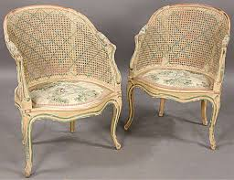 great pair french cane maison jansen bergere chairs er clla99