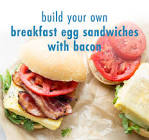build your own breakfast egg sandwich