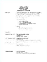 Sample Resume No Experience Stunning 48 Medical Billing And Coding Resume Sample