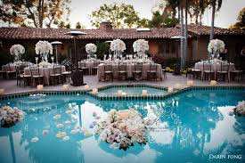 floating candles for pool wedding. backyard wedding ideas with pool : resort vintage style alex and jesse karen tran blog floating candles for