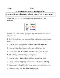 Pronouns Worksheets | Regular Pronouns Worksheets
