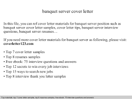 Banquet Server Cover Letter Awesome Collection Of Cover Letter
