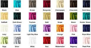 Color Chart For Taffeta Fabric The Blue Fuchsia Orange
