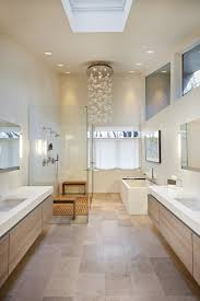 possini bathroom contemporary with bubble chandelier clerestory windows contemporary lighting floating