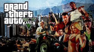 1366x768 gta v wallpaper a wallpaper with the gta v logo