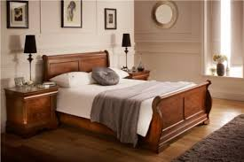 louie dark double bed frame