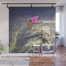 surfing wall mural by aztosaha society6