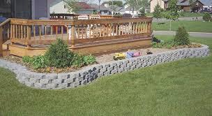 keystone garden wall retaining wall