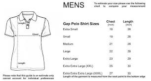 Gap Polo Shirt Size Chart Coolmine Community School