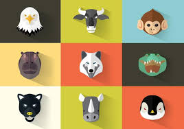 Animal Icon Square Flat Animal Icon Pack Vector Download Free Vectors