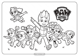 With all of the wonderful artists out there creating their works to share for free with the world, i thought it would be. Printable Paw Patrol Friends Pdf Coloring Pages