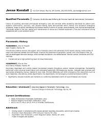 Emt Resume Template Best of Paramedic Resume Template Fastlunchrockco