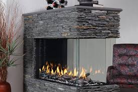 a completely frameless three sided fire viewing experience