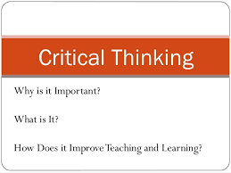 Continue to develop critical thinking and problem solving skills  It s a