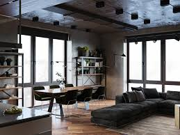 Industrial Home Design Plans Luxury Apartment With An Industrial Vibe And A Cool Hallway