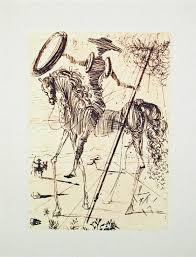 don quixote original etching by salvador dali