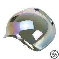 biltwell bubble visor rainbow mirror