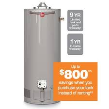 rheem water heater 40 gallon. exclusive to the home depot. rheem® performance plus™ 40\u2011gallon gas water heater rheem 40 gallon t