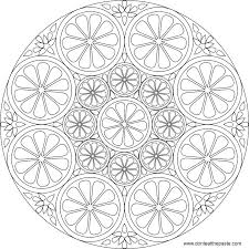 Mandala To Color Citrus Mandala To Color Also Available In