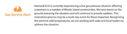 National Grid Customer Service Hey Newport Be Prepared For A Couple Of Days Without Heat Also