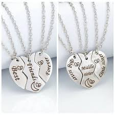 best friends forever necklace for 3