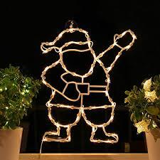 Fenster Silhouette Weihnachten 50cm Weihnachtsdeko Fensterbilder Beleuchtet Weihnachtsbeleuchtung Innen Fensterdeko Zum Aufhängen
