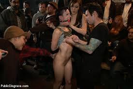 Public domination bondage naked