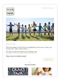 Ngo Newsletter Templates Sumac Free Non Profit Newsletter Templates
