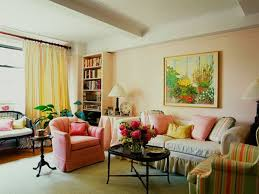 choose furniture first and look for pieces that are light in color and have legs lighter colors occupy less visual weight and legs provide an unobstructed