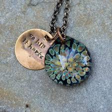custom made glass flower pendant boro borosilicate lampwork necklace so hip it hurts
