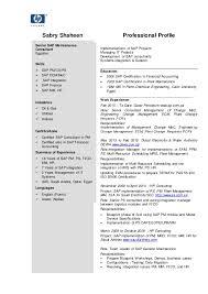 Gallery Of Senior Sap Consultant C V Resume Sap Cover Letter