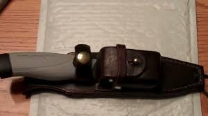mora custom leather sheath by leonard leather