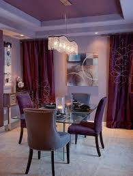 view in gallery ds and ceiling in purple bring an air of luxury to the room design