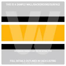 Black And Yellow Stripes Border Wall Border Set Sports Stripes Black Yellow Gold 16 Ft X 6 In