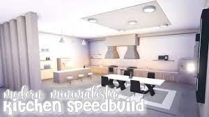 Modern Minimalistic Futuristic House Kitchen Speed Build Roblox Adopt Me Youtube