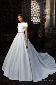 Ball Sleeves Design Crystal Design Bridal 2016 Short Sleeves Bateau Neckline