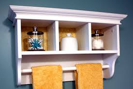 wood towel bar. Wall Mounted White Wooden Bathroom Cabinet With Cubical Shelves, Mesmerizing Towel Wood Bar D