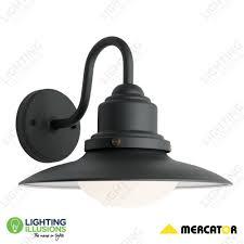 Mercator Outdoor Lights Graphite Eve Powder Coated Steel Exterior Wall Light Ip44