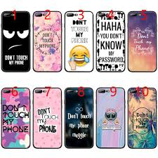My Phone Dont Touch My Phone Soft Black Tpu Phone Case For Iphone Xs Max Xr 6 6s 7 8 Plus 5 5s Se Cover Make Your Own Cell Phone Case Cell Phone Pouch From