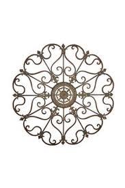 mirror wall decor circle panel: rustic vintage furniture metal wall decor