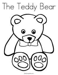 Small Picture The Teddy Bear Coloring Page Twisty Noodle