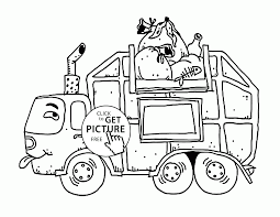 Dirty Garbage Truck Coloring Page For Kidsportation Pages Staggering