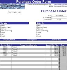 Purchase Order Template With Autoinvoice Tool Free Download And