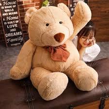 2019 new big cute teddy bear plush toy soft cartoon bear stuffed doll friend valentine s gifts kids baby acpany toys from cial